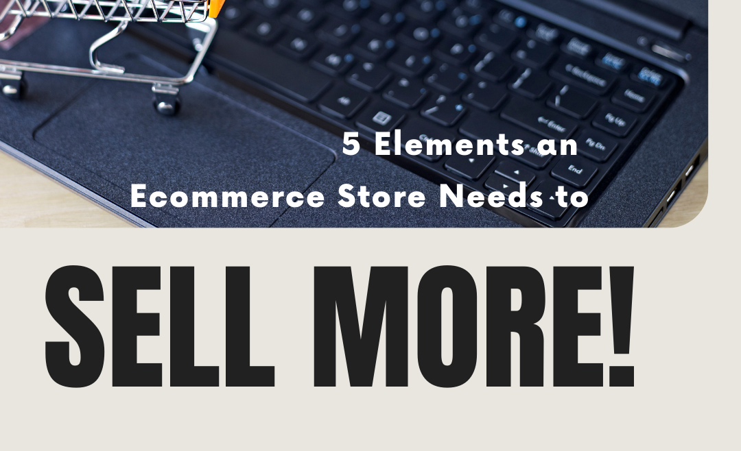 shopping cart plus laptop with ecommerce website